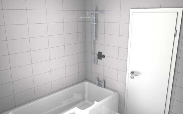CAD Bathroom Design- Bath View